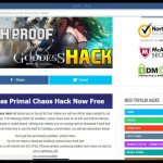 Goddess Primal Chaos Cheat tool – Working 2017 hack AndroidIOS