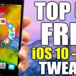 TOP 50 FREE iOS 10 – 10.2 Jailbreak Tweaks