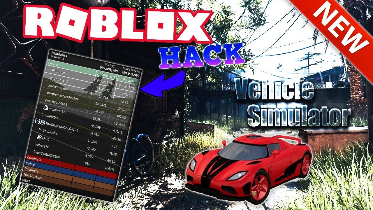 Free Codes In Roblox Vehicle Simulator Roblox Free Things Free Roblox Vehicle Simulator Hack Infinite Money And Miles