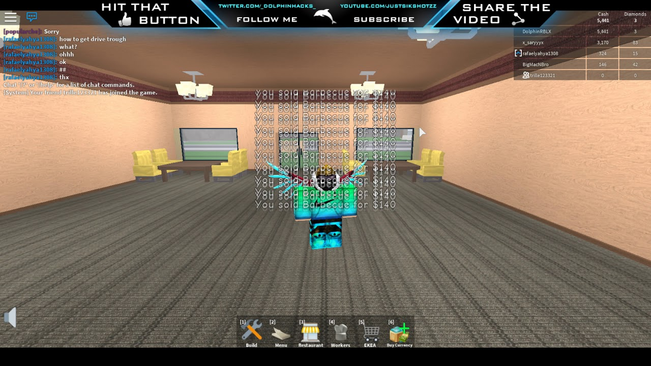 Code For Unlimited Catalog Tycoon Roblox Roblox Restaurant Tycoon Unlimited Money Hack Working