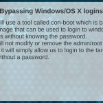 029 Bypassing Windows OSX Logins Setup – Hacking