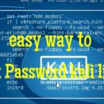 How to reset a forgetten Kali Linux root Password on VMware