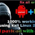how to bind payload with apk 1000 working using kali