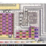 Reverse engineering a simple CMOS chip