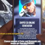Sniper 3D Hack – Cheats Unlimited Coins and Diamonds 2018 –