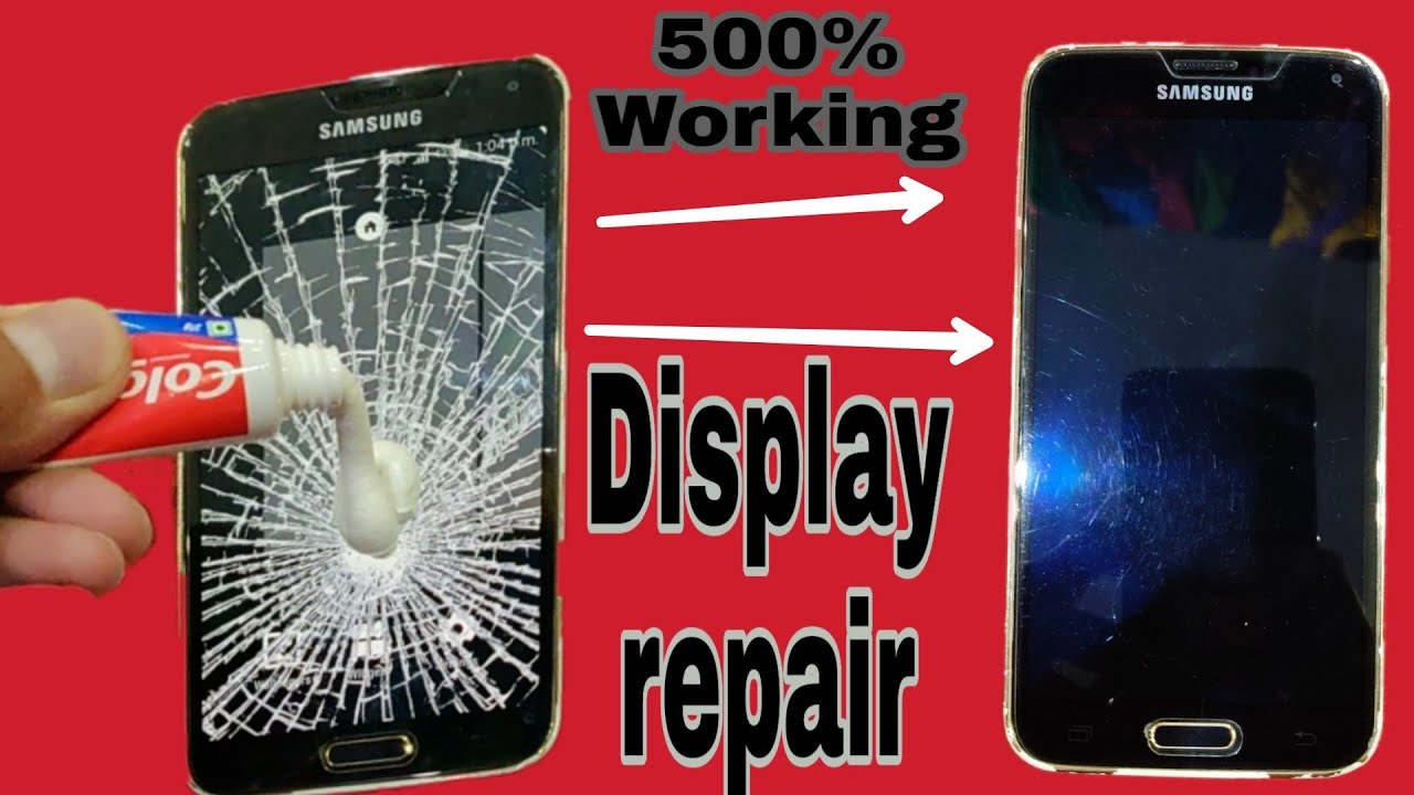 Fix a Broken Cracked Phone Screen at Home For Freelife hack