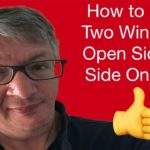How To Have Two Windows Open Side By Side On Mac