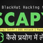 Packet forging, crafting sniffing with Scapy in KaliLinux