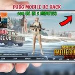 PUBG MOBILE HACK UNLIMITED UC FOR FREE AND 5 MINUTES 500 UC GFX