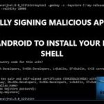 HOW TO MANUALLY SIGN A MALICIOUS APK USING