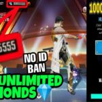 FREE FIRE UNLIMITED DIAMONDS HACK TRICK TO BYPASS HUMAN