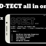 How to use d-tect tool for hack any website
