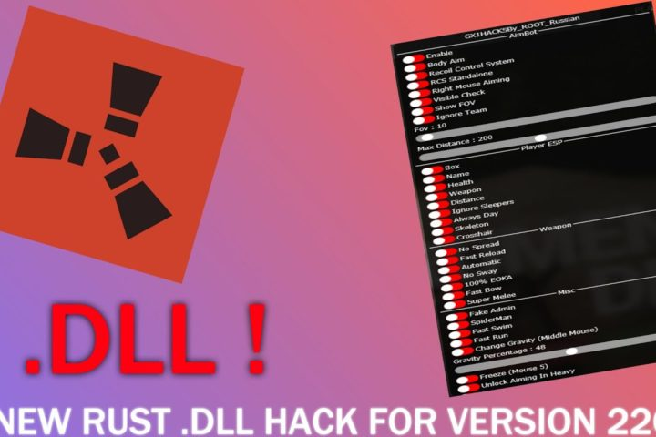 Rust New Dll Hack For Version 2208 Cracked Only