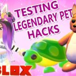 Testing LEGENDARY PET HACKS in ADOPT ME ✨ How to CRACK a