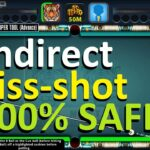 ACCURATE INDIRECT KISS SHOT IN 8 BALL POOL. SNIPER TOOL IS 100