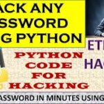 Hack any password using python python for hacking ethical