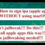 ✅How to sign ipa (apple apps) WITHOUT using macOS NO